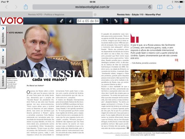 Entrevista à Revista Voto